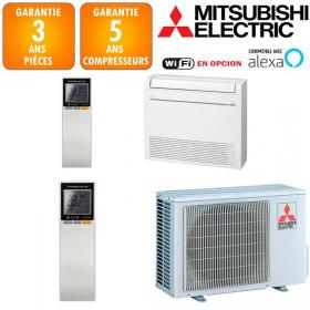 Climatisation Console Double Flux Mitsubishi MFZ-KT25VG