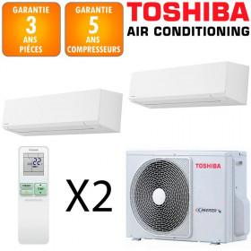 Toshiba Bi-split Shorai RAS-2M14U2AVG-E + RAS-M05J2KVSG-E + RAS-B07J2KVSG-E