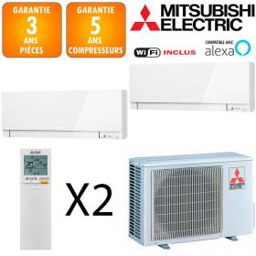 Mitsubishi Bi-split MXZ-2F33VF + MSZ-EF18VGKW + MSZ-EF22VGKW