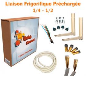 Liaison Frigorifique Préchargée 1/4-1/2 Quick Connect Plus Pack6