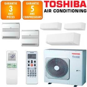 Toshiba Quintuple-split Shorai RAS-5M34U2AVG-E + RAS-M05J2KVSG-E + 2 X RAS-B10J2KVSG-E + 2 X RAS-B10J2FVG-E
