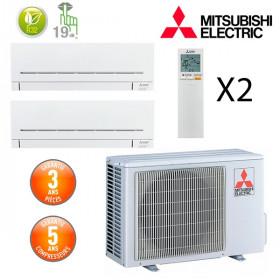 Mitsubishi Bi-split MXZ-2F53VF + 2 X MSZ-AP25VGK