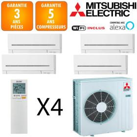 Mitsubishi Quadri-split MXZ-4F72VF + 2 X MSZ-AP15VG + MSZ-AP20VG + MSZ-AP25VGK