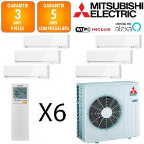 Mitsubishi Sextuple-split MXZ-6F122VF + 4 X MSZ-EF18VGKW + MSZ-EF25VGKW + MSZ-EF35VGKW