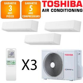 Toshiba Tri-split Shorai RAS-3M18U2AVG-E + 2 X RAS-M05J2KVSG-E + RAS-B07J2KVSG-E