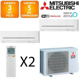 Mitsubishi Bi-split MXZ-2F42VF + MSZ-AP20VG + MSZ-AP25VGK
