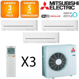 Mitsubishi Tri-split MXZ-3F54VF + MSZ-AP15VG + 2 X MSZ-AP25VGK