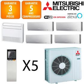 Mitsubishi Quintuple-split MXZ-6F122VF + MSZ-EF18VGKS + MFZ-KT25VG + 2 X MSZ-EF25VGKS + MSZ-EF50VGKS